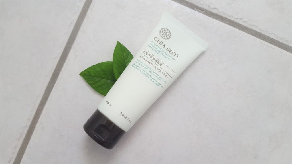 thefaceshop chia seed cleansing foam