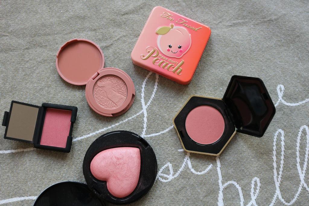 Makeup declutter 2018 blush